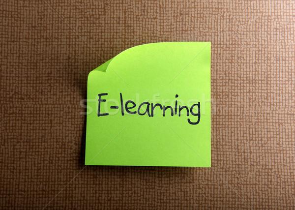 Online oktatás iroda modell keret zöld kommunikáció Stock fotó © nenovbrothers