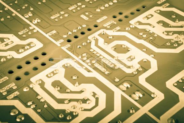Ordinateur bord puces composants résumé bleu Photo stock © nenovbrothers