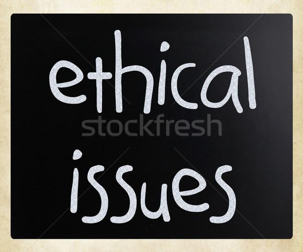 Etikus kézzel írott fehér kréta iskolatábla textúra Stock fotó © nenovbrothers