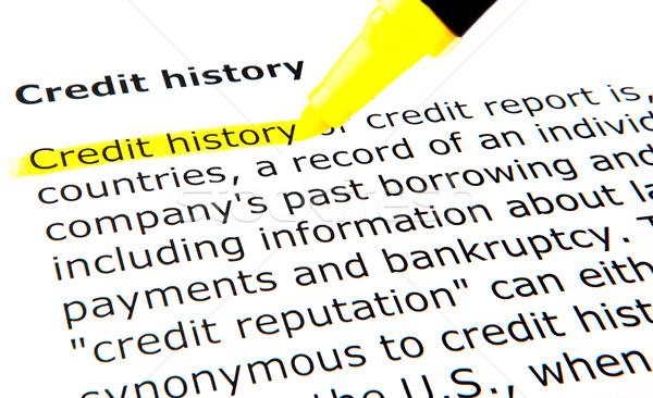 Credit history Stock photo © nenovbrothers