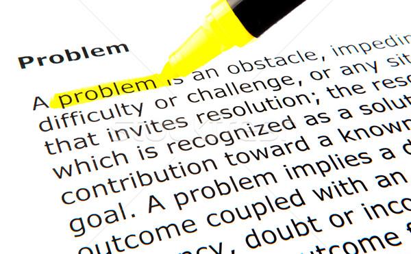 Problem Stock photo © nenovbrothers