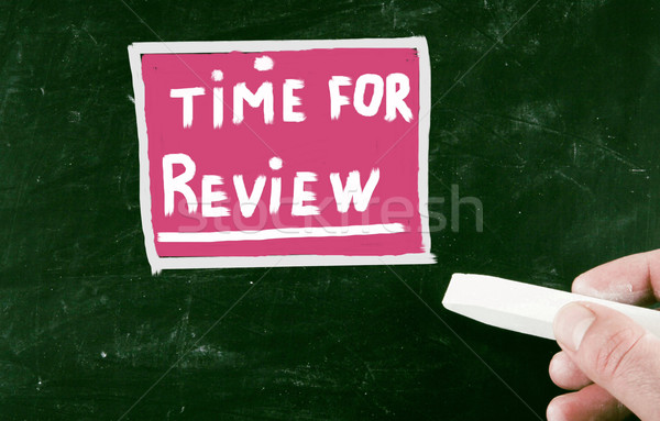 time for review concept Stock photo © nenovbrothers