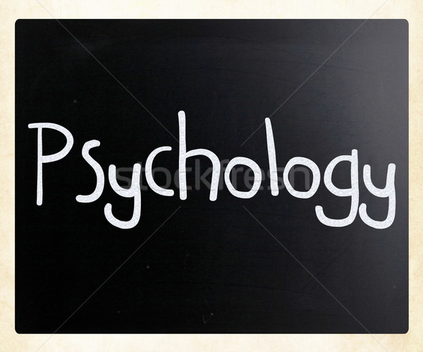 Słowo psychologia biały kredy tablicy Zdjęcia stock © nenovbrothers