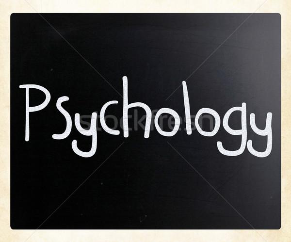 Mot psychologie blanche craie tableau noir Photo stock © nenovbrothers