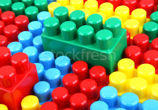 ストックフォト: 色 · 幼稚な · ブロック · 建物 · 子供 · 学校