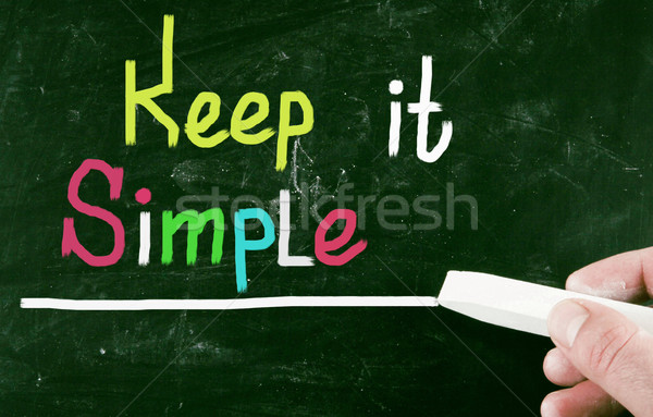 Stock photo: keep it simple