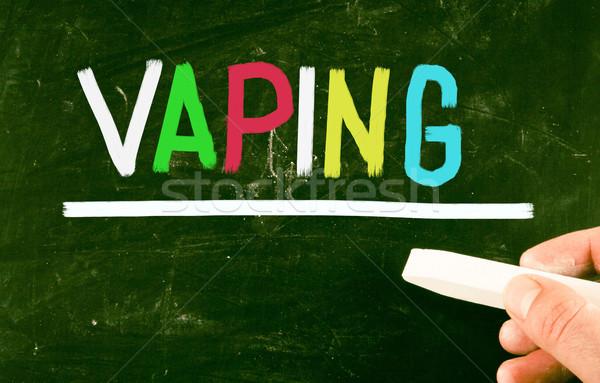 Segni fumare sigaretta chimica libero sani Foto d'archivio © nenovbrothers