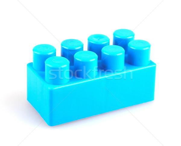 пластиковых блоки белый фон окна зеленый Сток-фото © nenovbrothers
