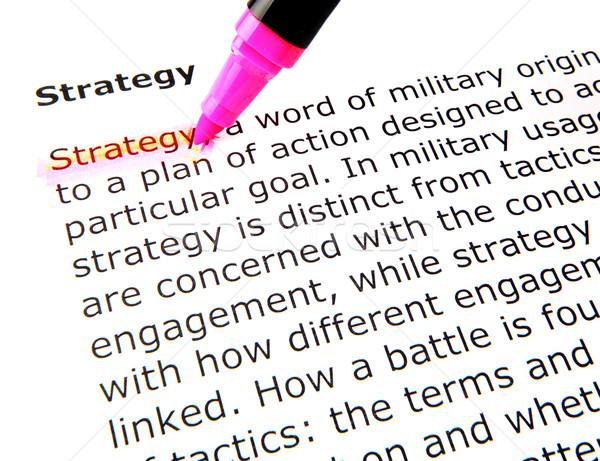 strategy Stock photo © nenovbrothers