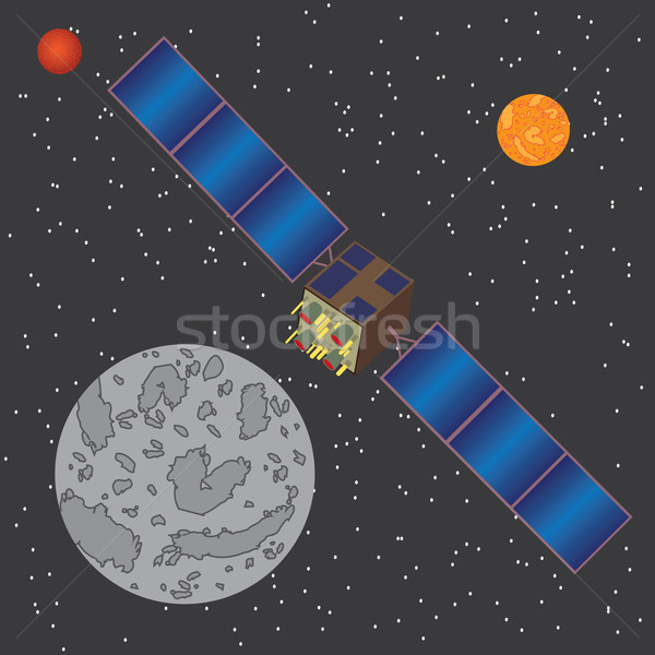Satellite in space. Stock photo © Neokryuger