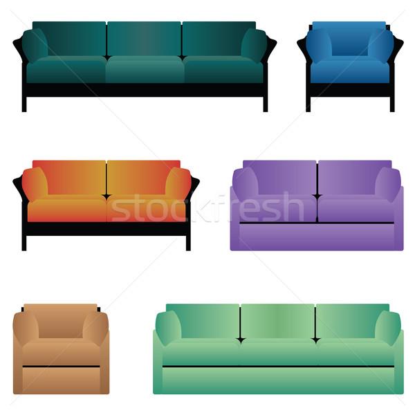 Set of sofas. Stock photo © Neokryuger