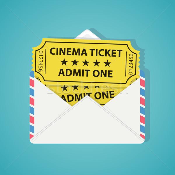 白 封筒 2 ヴィンテージ 映画 チケット ストックフォト © Neokryuger