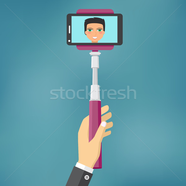 Self Portrait Tool For Smartphone. Stock photo © Neokryuger
