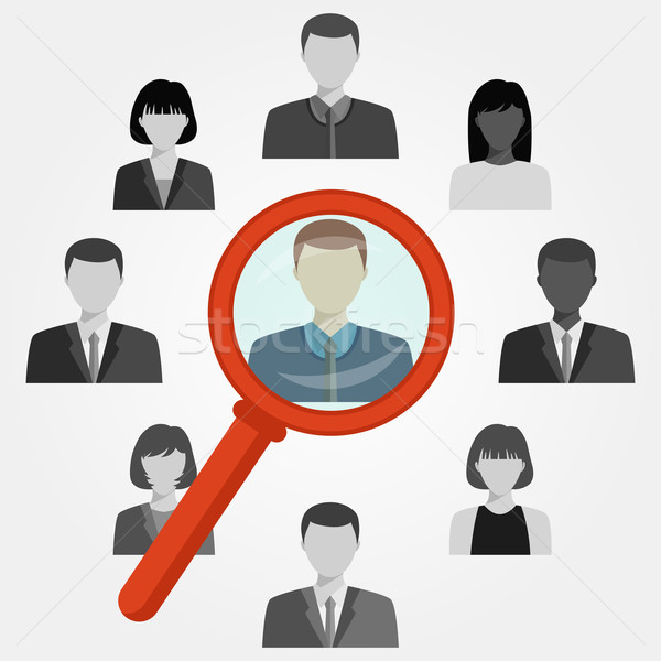 Search employee for recruitment agency. Stock photo © Neokryuger