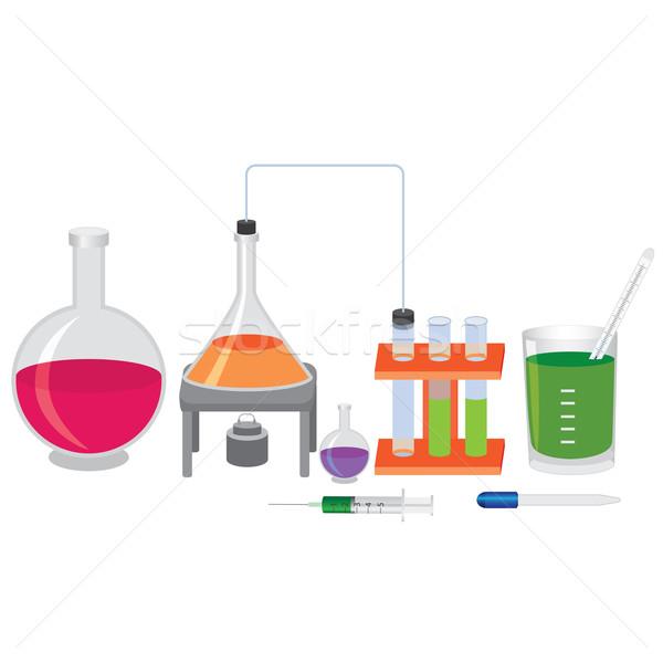 Chimica esperimento sfondo ospedale medicina scienza Foto d'archivio © Neokryuger