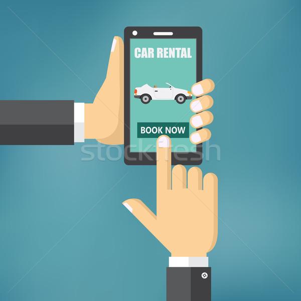 Illustration voiture mobiles appareil affaires design Photo stock © Neokryuger
