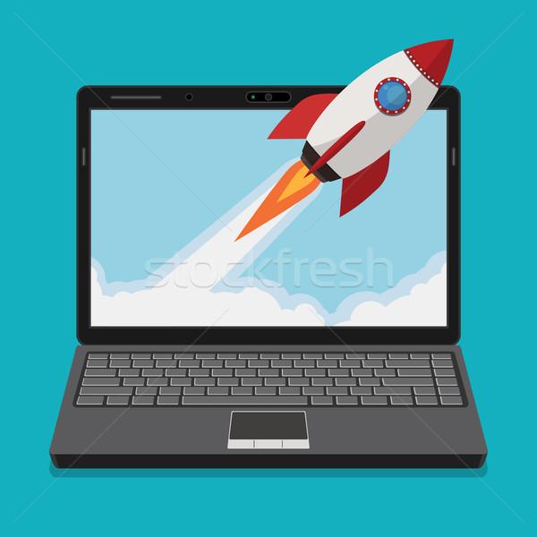 新しい ビジネス プロジェクト 開始 アップ コンピュータ ストックフォト © Neokryuger