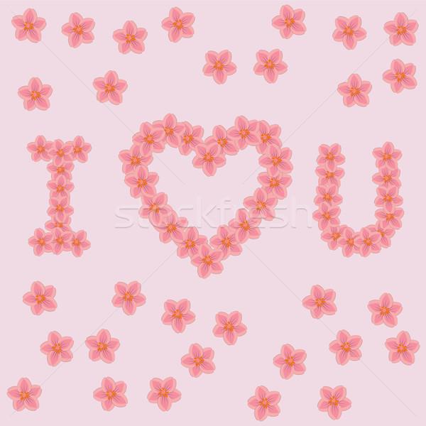 Foto stock: Cartas · flores · amor · rosa · flor · fundo