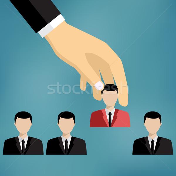 Businessman choosing worker. Stock photo © Neokryuger