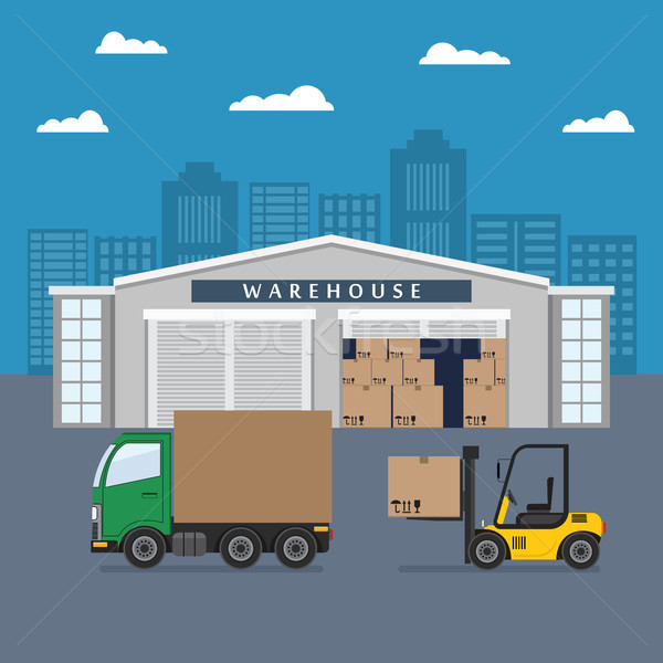 Warehouse building and shipping process. Stock photo © Neokryuger
