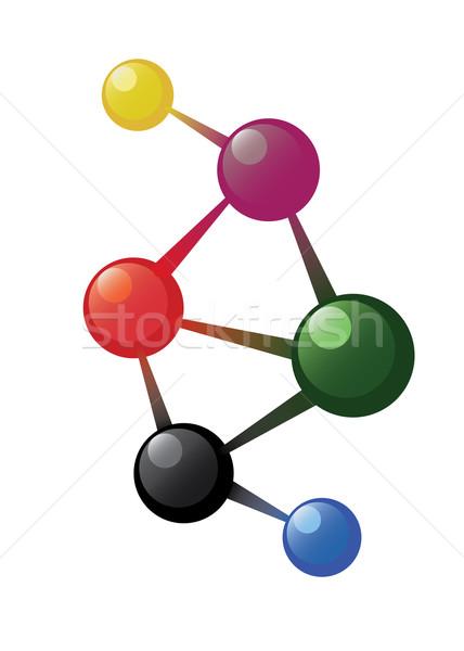 Atom model Stock photo © Neokryuger