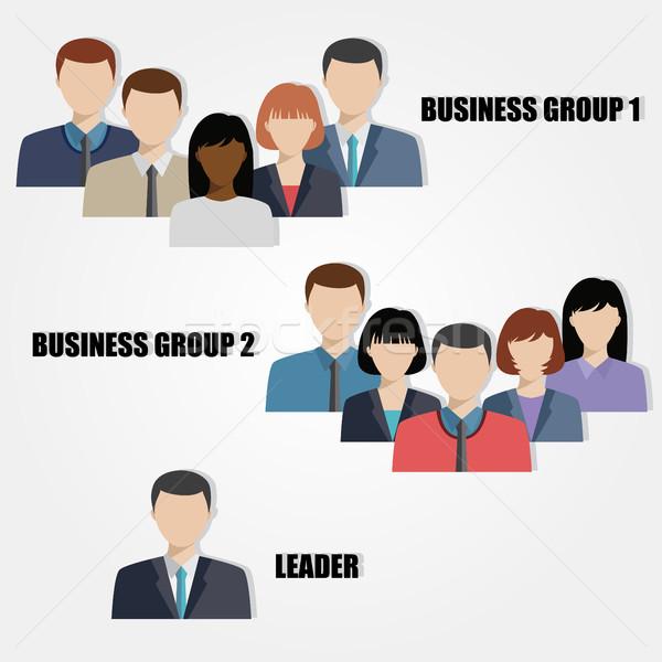 ビジネスの方々  グループ 人間 資源 ビジネス ビジネスマン ストックフォト © Neokryuger