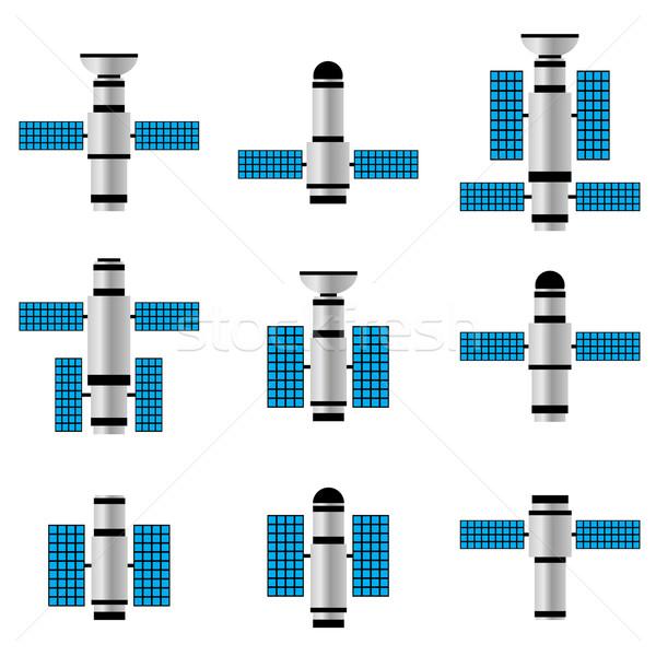 衛星 セット スペース 技術 ネットワーク 波 ストックフォト © Neokryuger