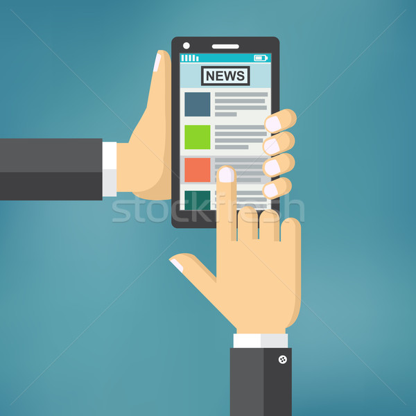 News app on smartphone screen. Stock photo © Neokryuger