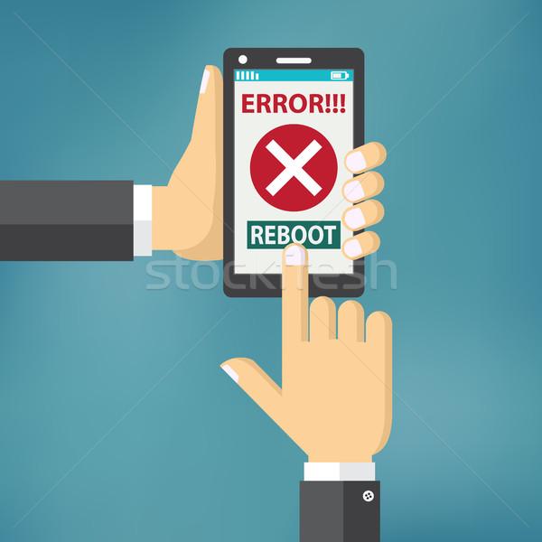 стороны ошибка экране мобильных Сток-фото © Neokryuger