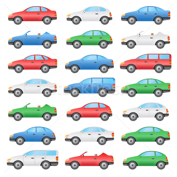 Set of cars. Stock photo © Neokryuger