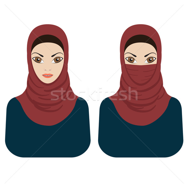 Müslüman kadın başörtüsü genç Stok fotoğraf © Neokryuger