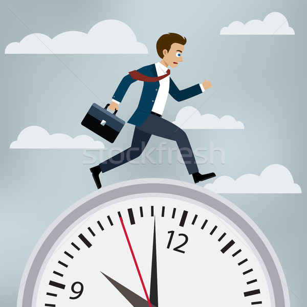Man in suit runs to work. Stock photo © Neokryuger