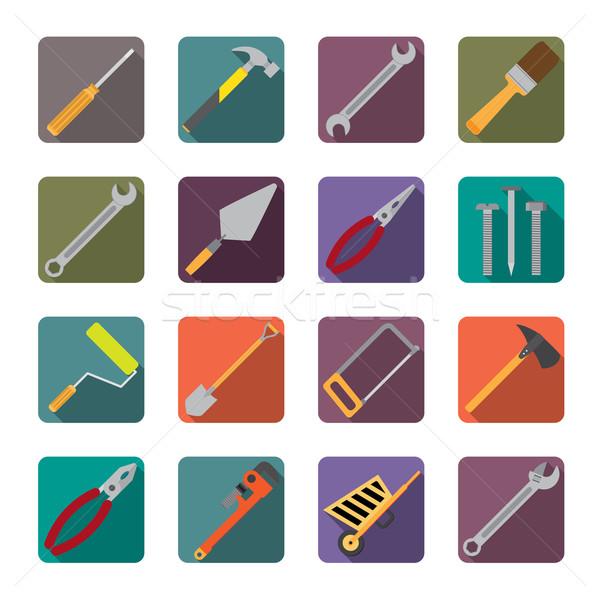Ingesteld tools iconen schroevendraaier Stockfoto © Neokryuger