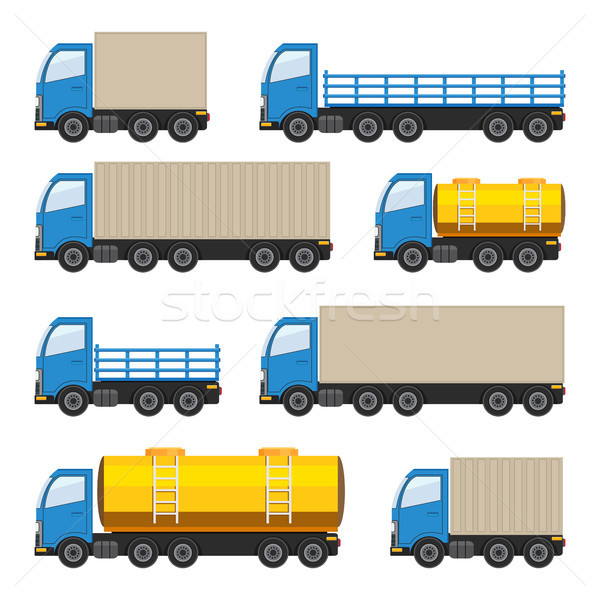 Set camion pesante carburante vettore eps10 Foto d'archivio © Neokryuger