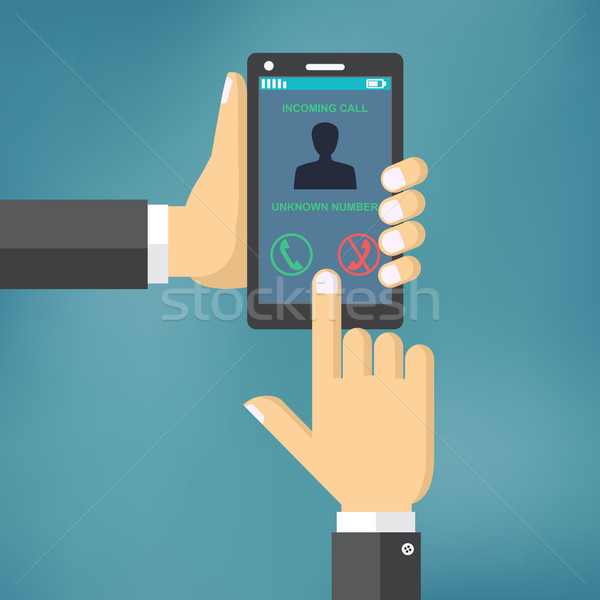 Incoming call on smartphone screen. Stock photo © Neokryuger