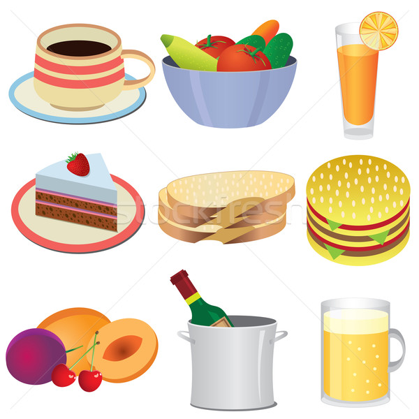 Food icons. Stock photo © Neokryuger