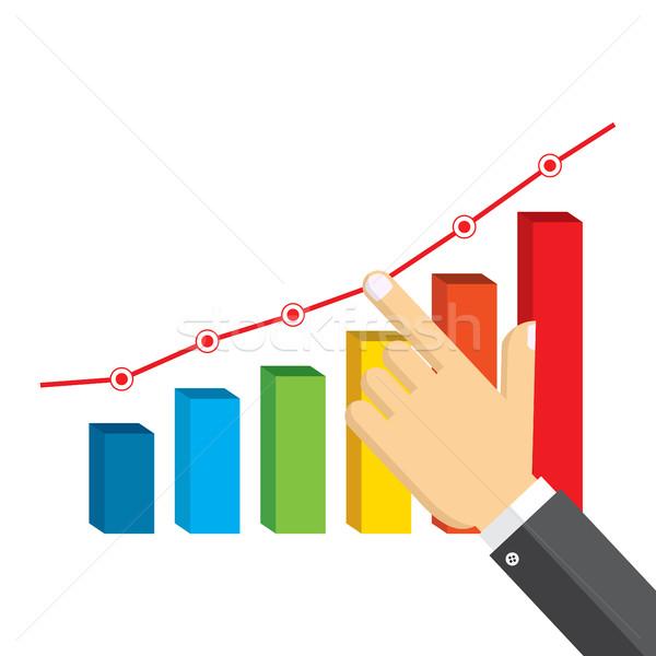 Imprenditore punta crescita grafico business soldi Foto d'archivio © Neokryuger