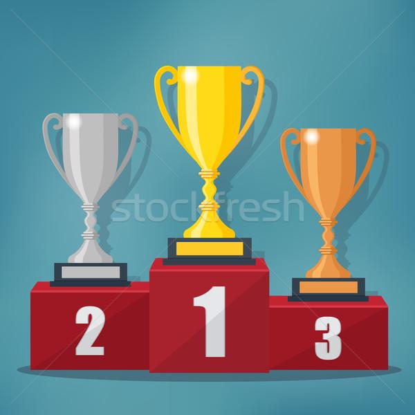 Arany ezüst bronz trófea csésze díj Stock fotó © Neokryuger
