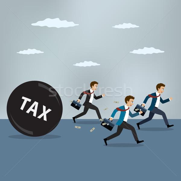 Empresários correr longe pesado imposto negócio Foto stock © Neokryuger
