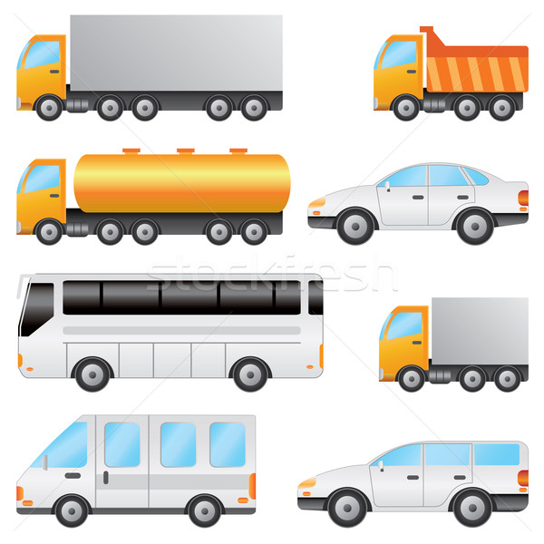 Set of vehicles. Stock photo © Neokryuger