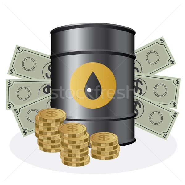 Oleju ceny baryłkę monet biały Zdjęcia stock © Neokryuger