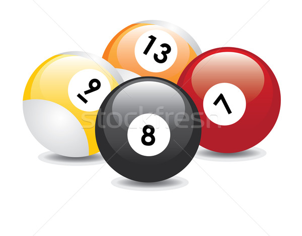 Billiard balls Stock photo © Neokryuger