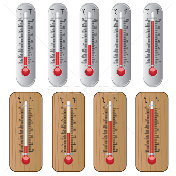 Set of thermometers. Stock photo © Neokryuger