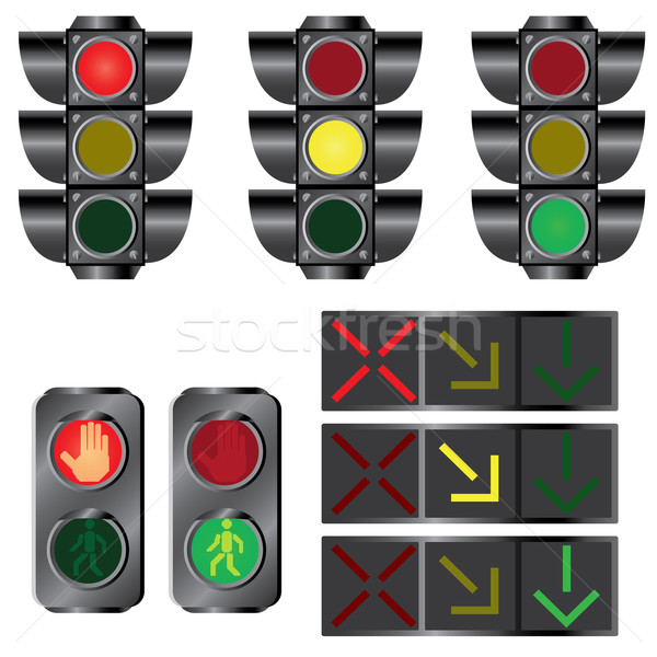 Set of traffic lights. Stock photo © Neokryuger