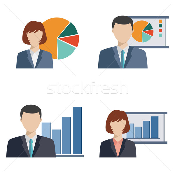Business people doing presentation Stock photo © Neokryuger