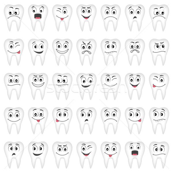 Denti set design raccolta molti Foto d'archivio © Neokryuger