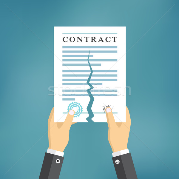 Contract termination concept. Stock photo © Neokryuger