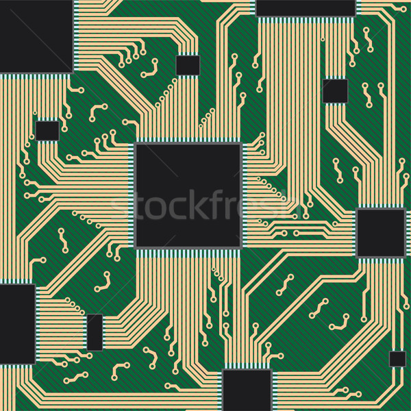 Circuit board computerapparatuur abstract ontwerp moeder communicatie Stockfoto © Neokryuger