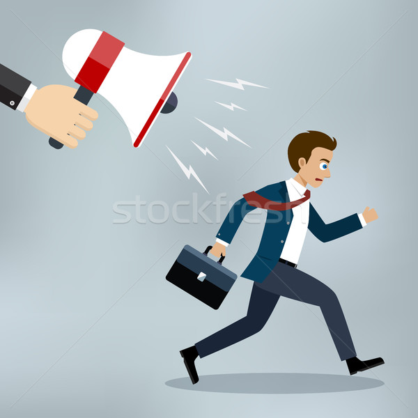 Businessman almost late running for work. Stock photo © Neokryuger
