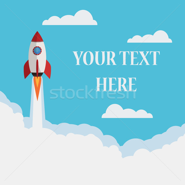 Startup ruimte raket business wolken Stockfoto © Neokryuger